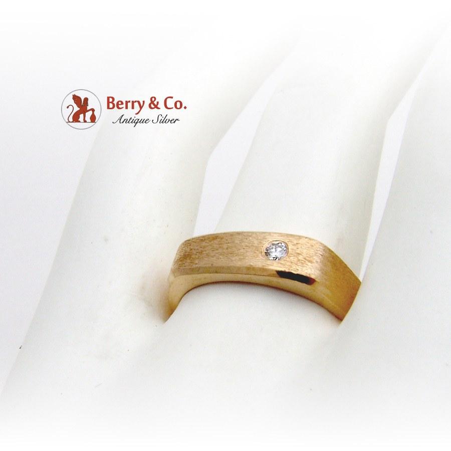 14K Gold Gentlemans Ring Diamond