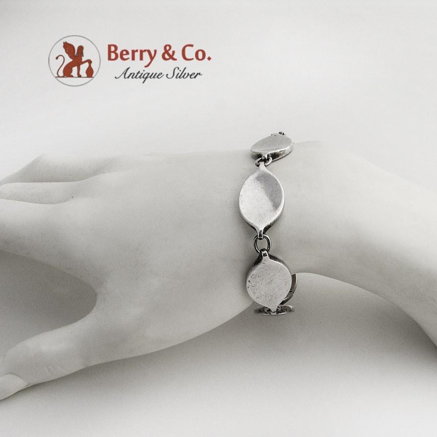 Designer Georg Jensen Link Bracelet 171 Sterling Silver 1970