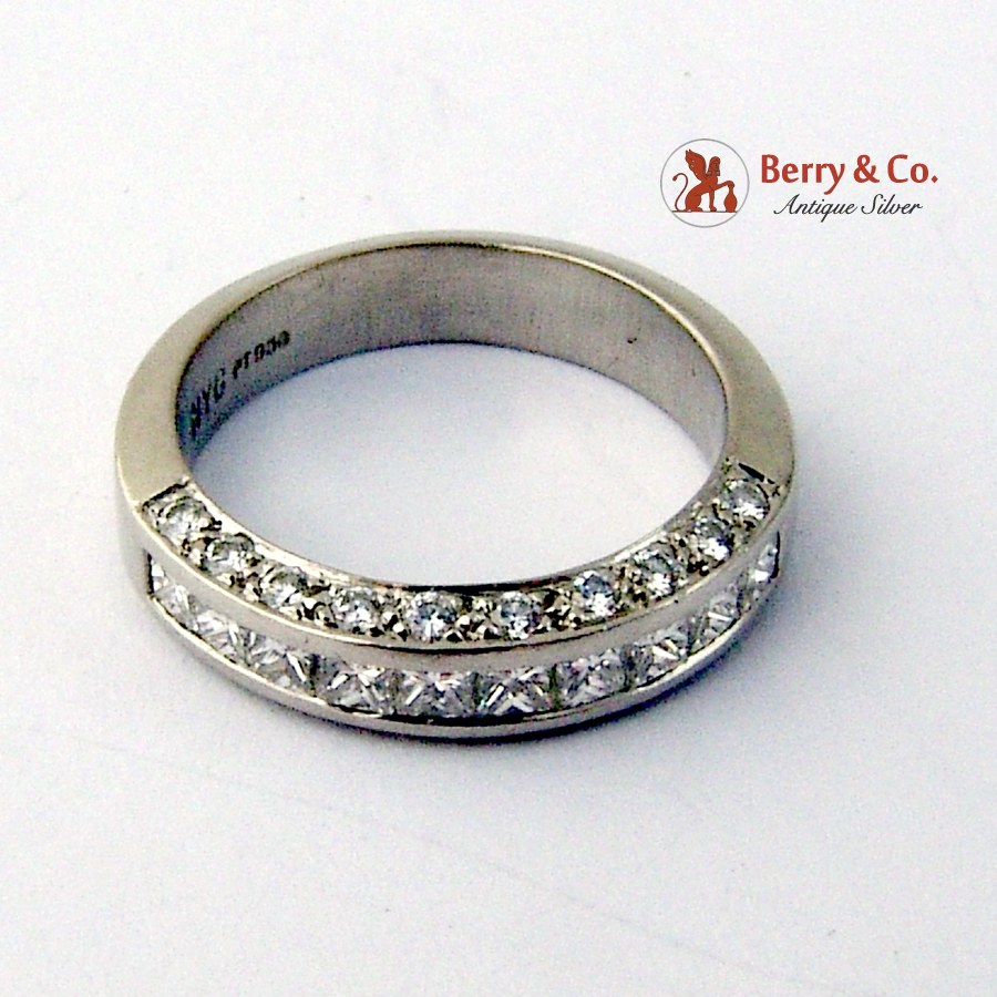 half eternity ring channel set diamonds platinum ebay
