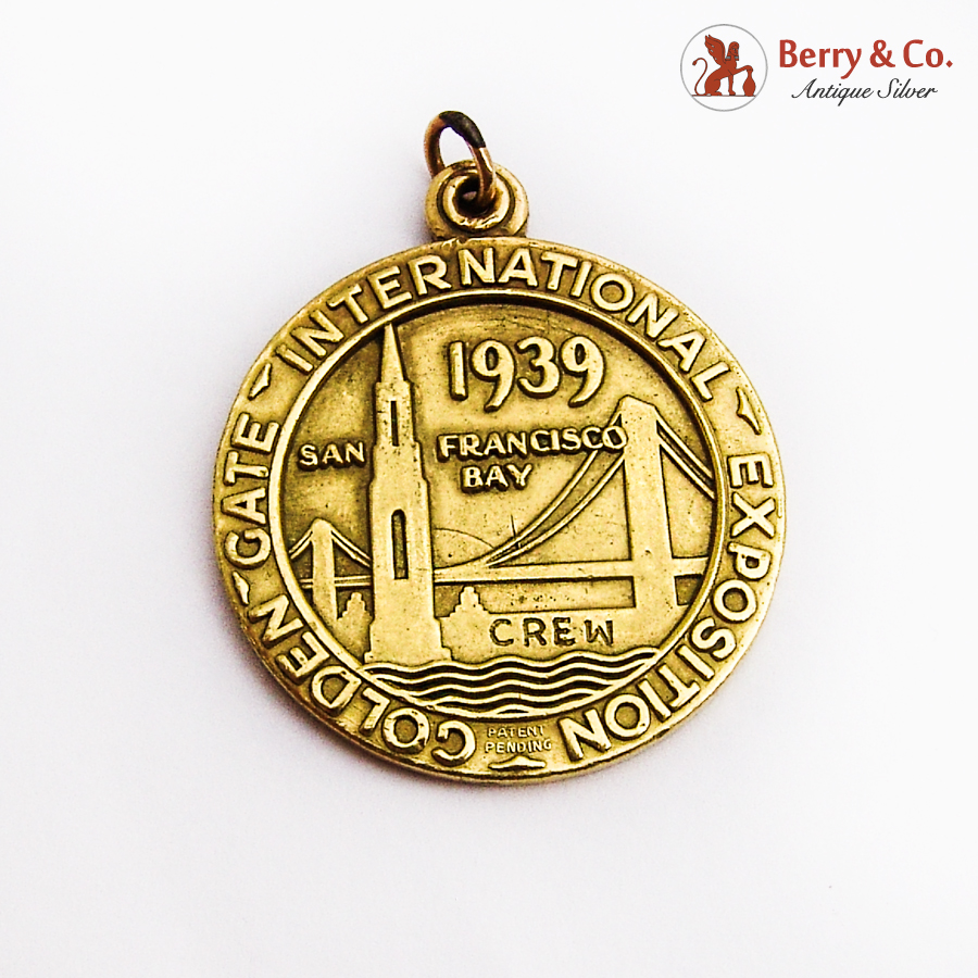Golden Gate International Exposition Medallion Pendant 10K Gold