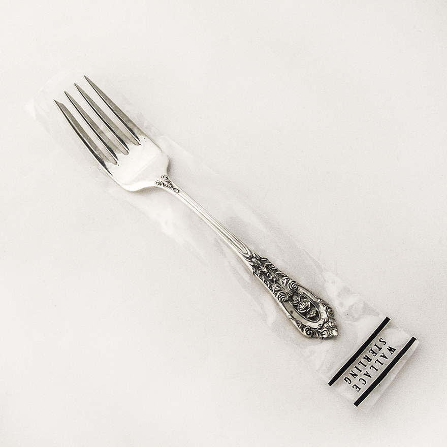 Olive Fork ~ No Mono Rose Point ~ by Wallace Sterling Silver Pickle