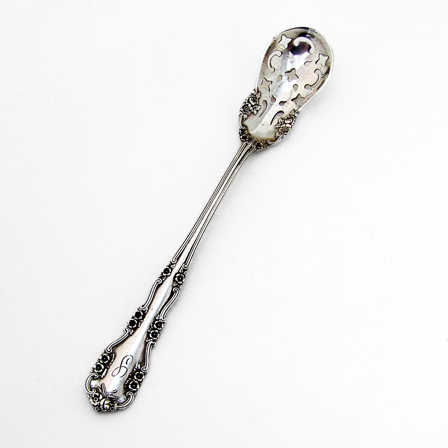 "Wild Rose by International Sterling Silver Olive Spoon Ideal 5 3//8/"" Custom Made"