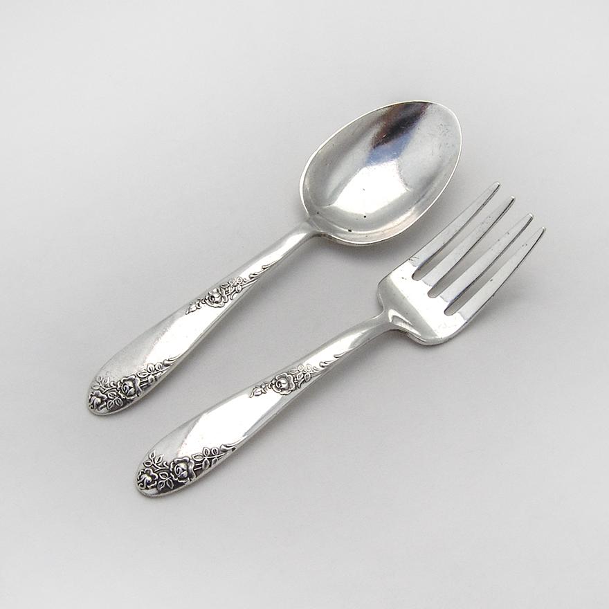 "Sweetheart Rose by Lunt Sterling Silver Demitasse Spoon 4 1//2/"""