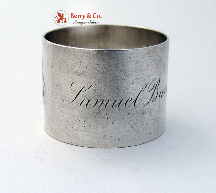 West Point Napkin Ring Samuel Burkhardt Class of 1889 Sterling Silver Tiffany