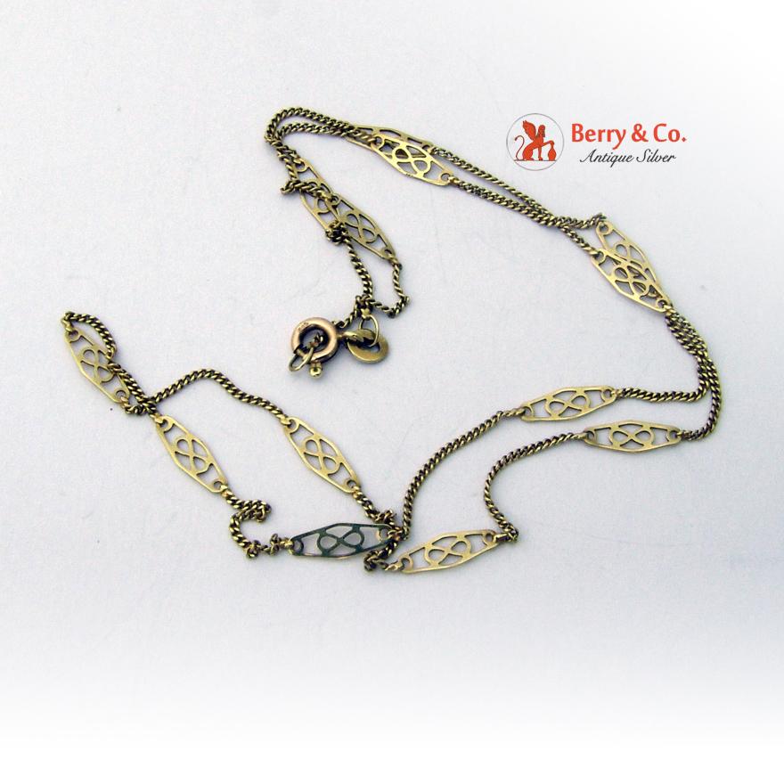 Ornate Infinity 14 K Yellow Gold Chain