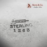 .Ornate Fairy Cherub Devil Embossed Match Holder Sterling Silver William Kerr 1900
