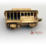 Estate San Francisco Train Movable Charm 14 K Gold