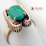 Vintage Jade Ring 14 K Yellow Gold