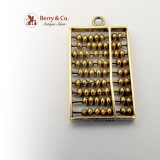 Vintage Abacus Charm 14 K Gold
