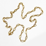 Vintage Ornate Chain Scroll Links 14 K Gold