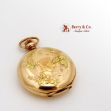 Amazing Antique Art Nouveau Gold Filled Pocket Watch 1880