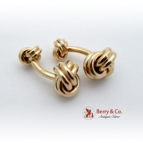 Tiffany Co Double Knot Cufflinks 14K Gold