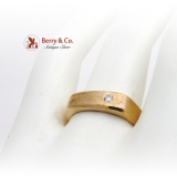 14K Gold Gentlemans Ring Diamond