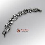 Los Balesteros Designer Ornate Scroll Link Bracelet Mexican Sterling Silver 1940