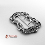 Baroque Shell Scroll Belt Buckle 800 Silver 1860