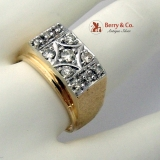 Masculine Diamond Ring 14K Yellow Gold 0.5 TCW VS2-SI1 I