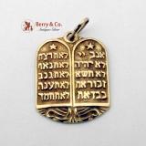 Judaica Pendant 14K Gold