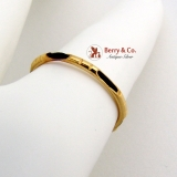 Vintage Chinese Elephant Whisker Band Ring 14K Gold 1930