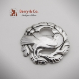 Georg Jensen Dove Brooch 70 Sterling Silver 1950