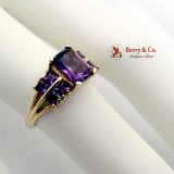 Vivid Violet Amethyst Ring 14 K Yellow Gold
