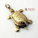 Vintage Turtle Charm 14 K Gold