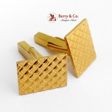 Vintage Authentic Tiffany and Co Cufflinks Retro Style 14 K Gold