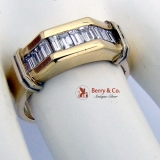 Modern Diamond Man s Ring 14K Gold