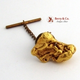 Large Gold Nugget Stick Pin