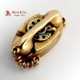Vintage Dial Phone Charm 14 K Gold