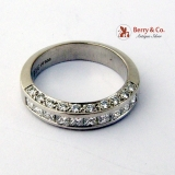 Half Eternity Ring Channel Set Diamonds Platinum