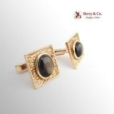 Vintage Black Star Sapphire Cufflinks 14 K Gold
