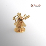 Vintage Movable Windmill Charm 14 K Gold