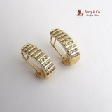 Channel Set Diamond Hinged Hoop Earrings 14 K Gold