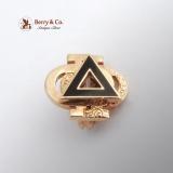 Vintage Phi Delta Phi Fraternity Pin 10 K Gold Enamel