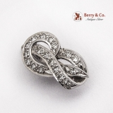 Knot Form Pendant 14 K White Gold Diamonds