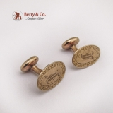 Vintage Monogram Cufflinks 14 K Gold