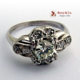 Vintage Art Deco Ring Platinum Diamonds