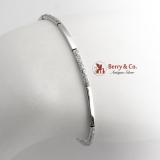 Tennis Bracelet 14 K White Gold Glitter