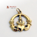 Claddagh Pendant 10 K Yellow Gold