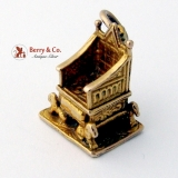 Vintage Gold Throne Charm 375 9 Ct Gold