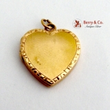 Vintage Heart Locket Pendant 14 K Gold