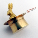 Vintage Bunny in a Hat Charm 14 K Gold