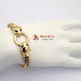 Gold Panther Bracelet 750 18 K Gold Sapphire Eyes