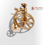 Vintage Bicycle Charm 10 K Gold