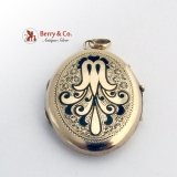 Victorian Oval Locket Pendant Gold Filled c.1890
