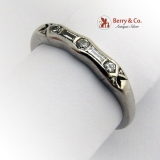 Vintage Art Deco Ring Platinum Baguette and Round Diamonds