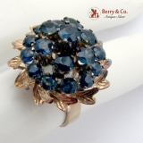 Vintage Harem Princess Ring Sapphires 14 K Yellow Gold