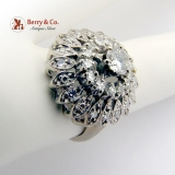 Vintage Harem Princess Ring Diamonds 14 K White Gold