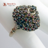 Vintage Harem Princess Ring Garnets 10 K Gold