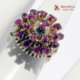 Harem Princess Ring 10 K Gold Rubies